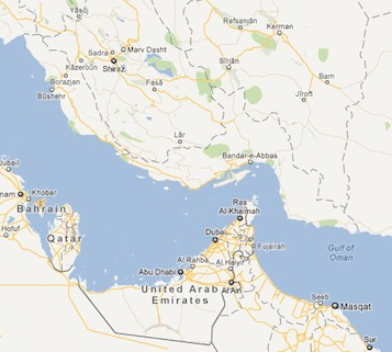 Google left Persian Gulf nameless