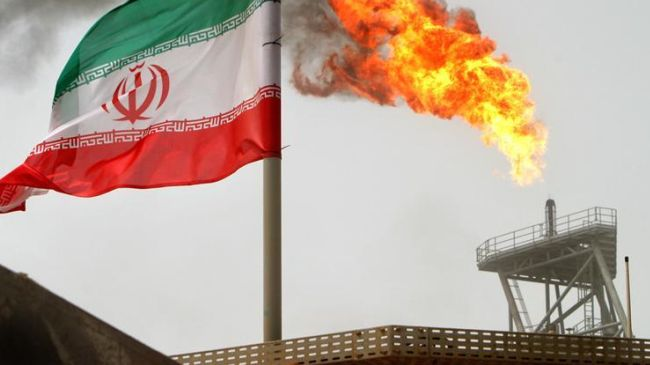A file photo showing gas flare of an Iranain oil production platform