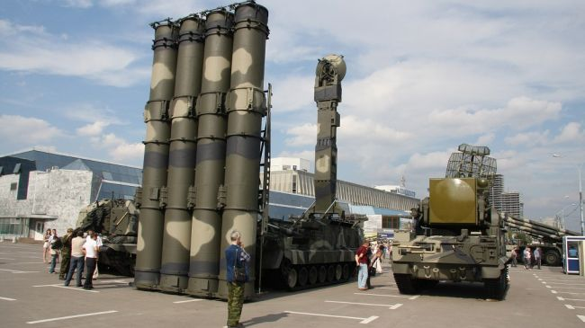 A file photo of a Russian-made S-300 air defense system
