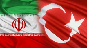 Flags of Iran & Turkey