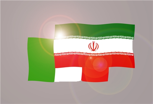 Flags of Iran & Italy