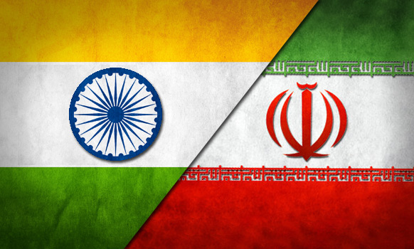 Flags of India & Iran