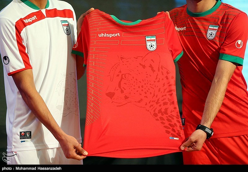 8d6f4faa2 Asiatic cheetah's image on Iran's national football team's jersey