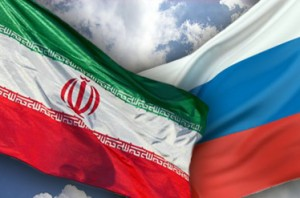 Flags of Iran & Russia