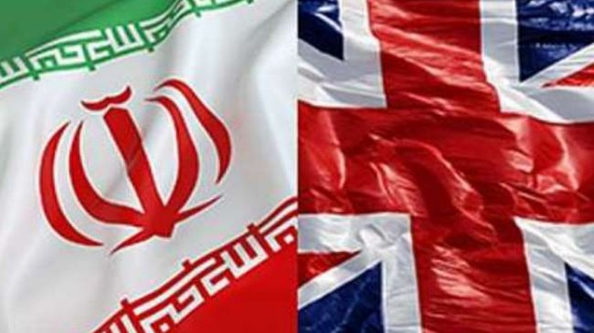 iran uk flags