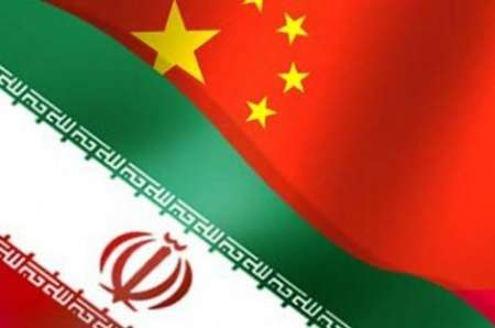 Flags of Iran and China
