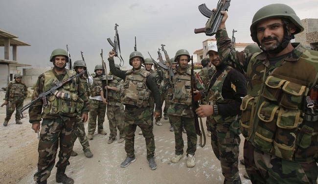 A group of Syrian soldiers