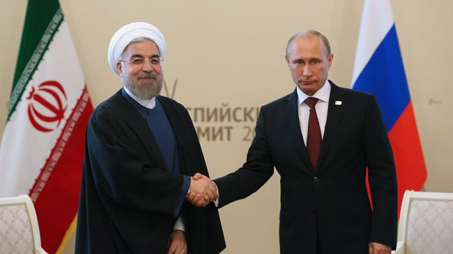 Image result for rouhani + putin