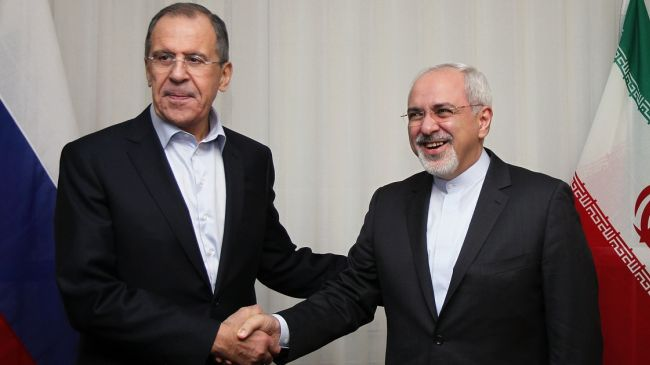 Russia's Foreign Minister Sergey Lavrov (L) & Iranian Foreign Minister Mohammad Javad Zarif