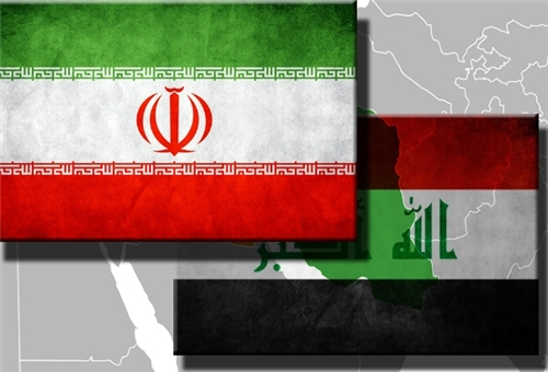 Flags of Iran & Iraq