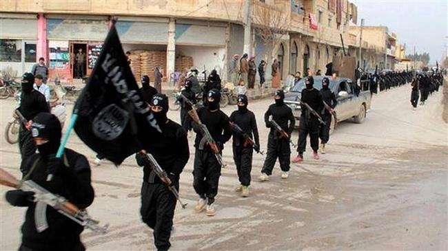 The file photo shows the ISIL Takfiri militants in Iraq.