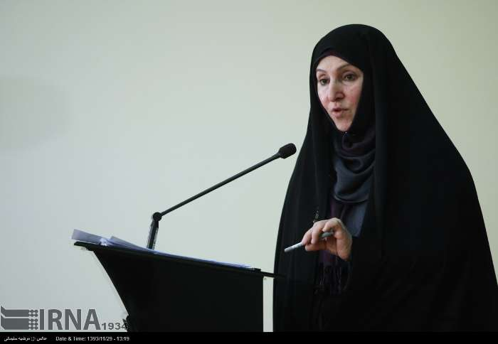 Iran's Foreign Ministry Spokeswoman Marzieh Afkham holds weekly press conference