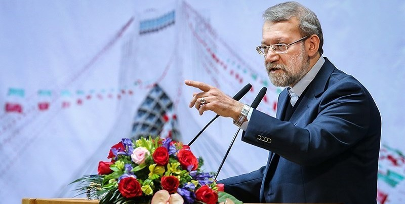 Iranian Parliament (Majlis) Speaker Ali Larijani addresses a meeting on February 10, 2015.