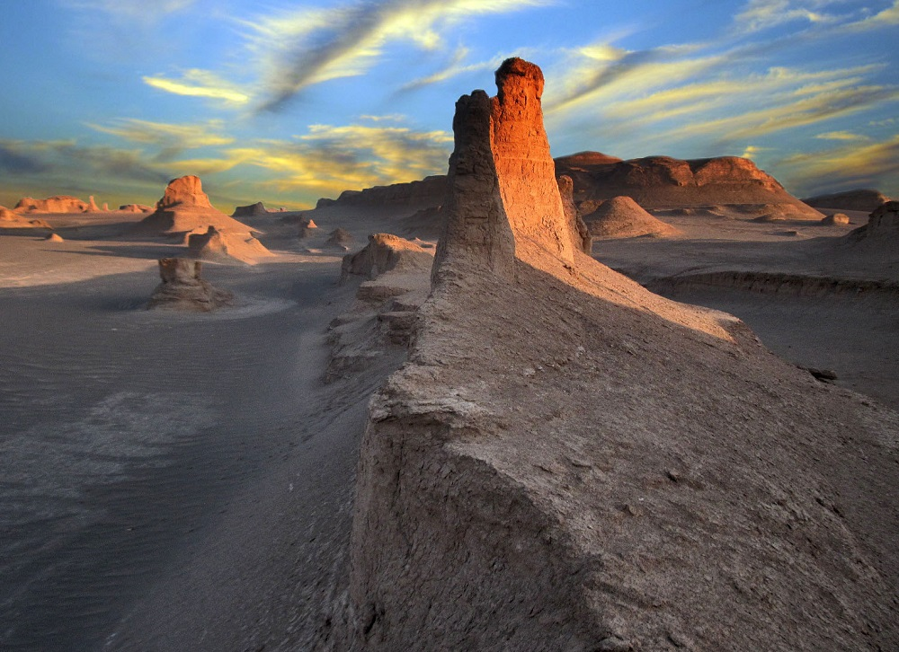 Shahdad yardangs (kaluts) in Kerman Province of southeastern Iran