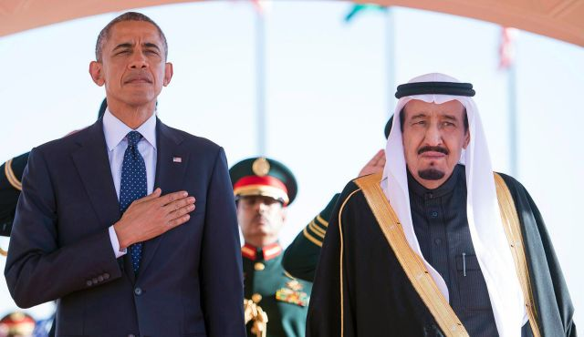 U.S. President Barack Obama with Saudi Arabian King Salman, January 27, 2015. The Saudis prefer to do their talking in private, not in the U.S. Congress. Photo by AP