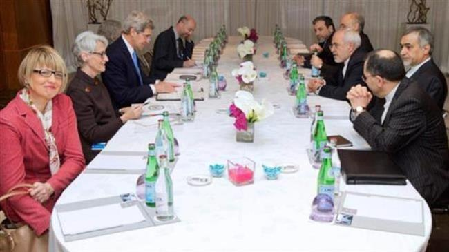The Iranian and US delegations hold a second round of nuclear negotiations in the Swiss city of Montreux on February 23, 2015