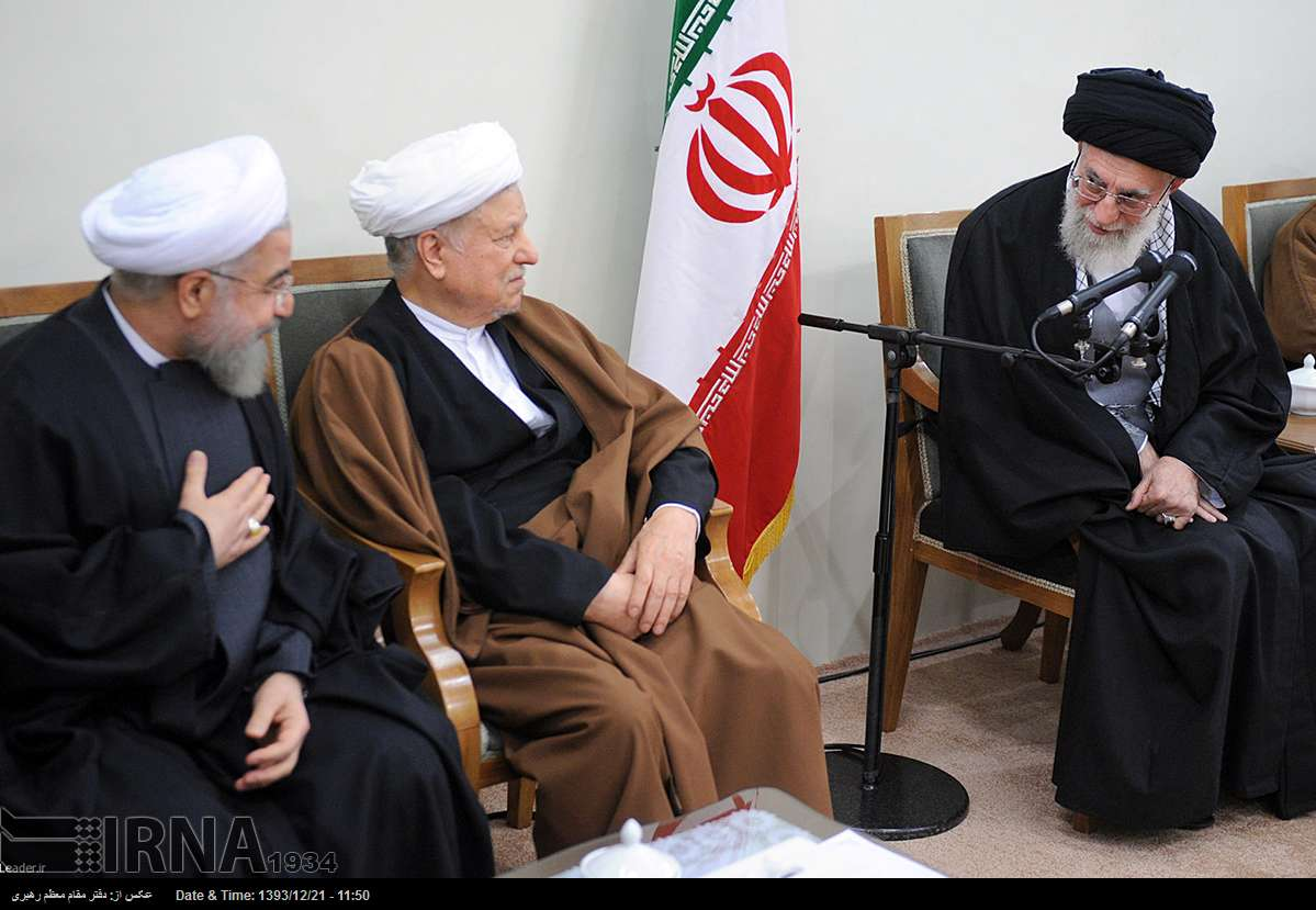 Leader of the Islamic Revolution Ayatollah Seyyed Ali Khamenei addresses the members of Iran's Assembly of Experts, Tehran, March 12, 2015.
