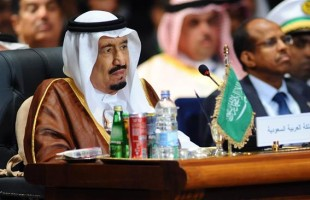 Saudi King Salman attends the Arab League summit in Egypt's Red Sea resort of Sharm el-Sheikh on March 28, 2015. ©AFP