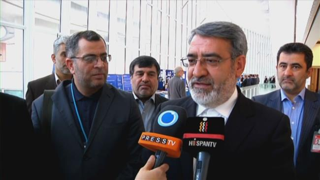 Iranian Interior Minister Abdolreza Rahmani Fazli speaks to Press TV on the sidelines of a UN meeting on narcotics.