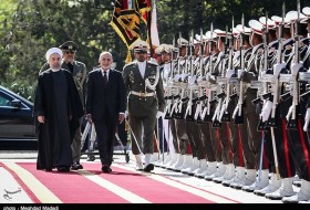 ghani officialy welcomed by rouhani