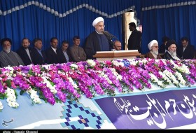 irans president rouhani visit to shiraz