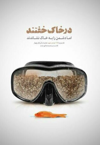 A collection of posters in memorial of 175  Iranian martyr divers (20)