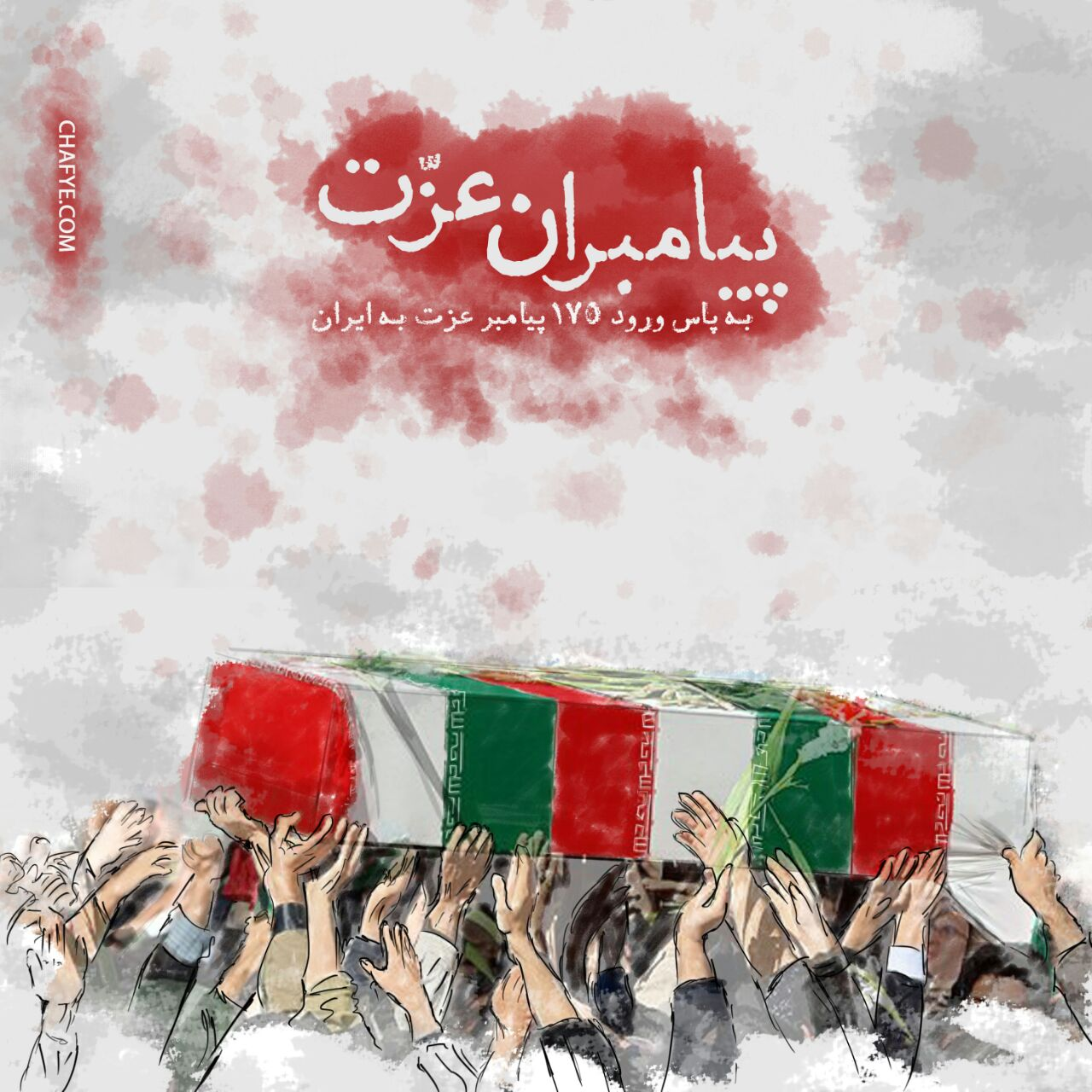 A collection of posters in memorial of 175  Iranian martyr divers (3)