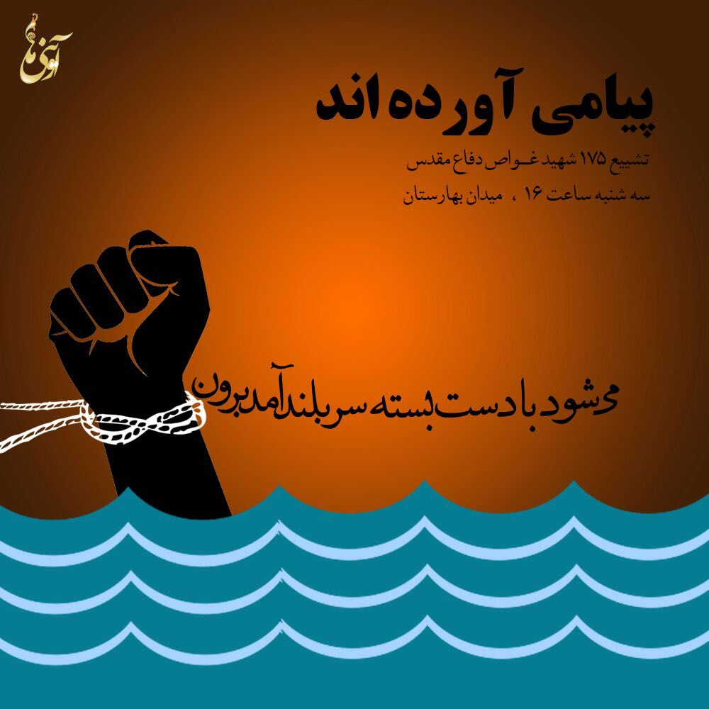 A collection of posters in memorial of 175  Iranian martyr divers (6)