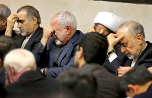 Iran's FM zarif in vienna in Qadr night