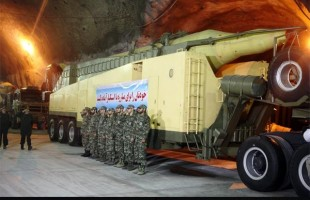 Iran displays underground missile base
