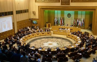 Arab League foreign ministers attending an emergency meeting in Cairo