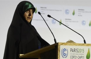 Ebtekar at UN Paris Climate Change Conference