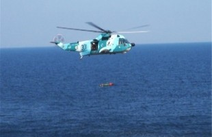 Iran's Naval Copters Drop Torpedoes in Drill