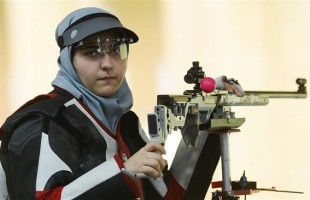 Iranian female sports shooter Mahlagha Jambozorg