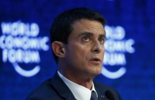 French Prime Minister Valls attends the session 'The Future of Europe' at the annual meeting of the World Economic Forum (WEF) in Davos
