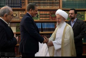First VP meets senior clerics in Qom