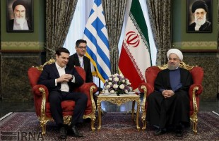 Iran President Rouhani meets Greek PM in Tehran