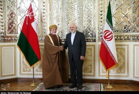 Iran's Foreign Minister Mohammad Javad Zarif meet with his Omani counterpart Yusuf bin Alawi bin Abdullah on Saturday in Tehran.