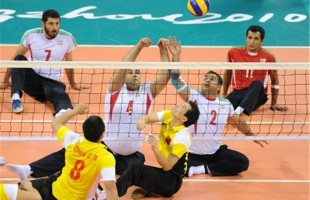 Iran's men sitting volleyball team