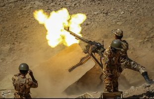 Iran Army Ground Force holds military drill in desert areas