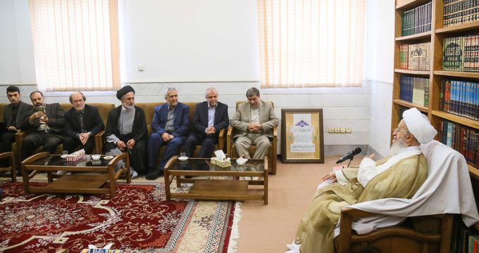 Jannati meets senior clerics in Qom