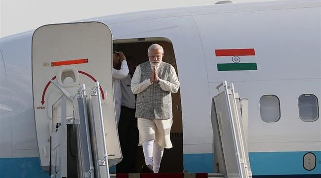 Narendra Modi arrives in Tehran