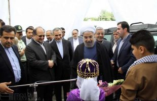 President Rouhani in Mahabad