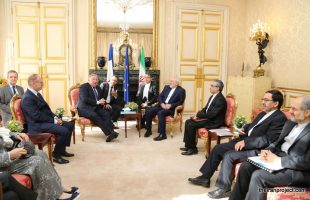 Iran's Zarif meets with President of the Senate of France Gérard Larcher (6)