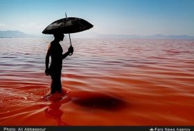 Urmia Lake in Red