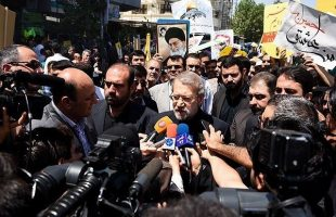 Larijani in Quds Day rallies