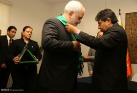Bolivia's highest state medal granted to Zarif (1)