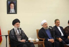 Leader receives Pres. Rouhani, Cabinet members