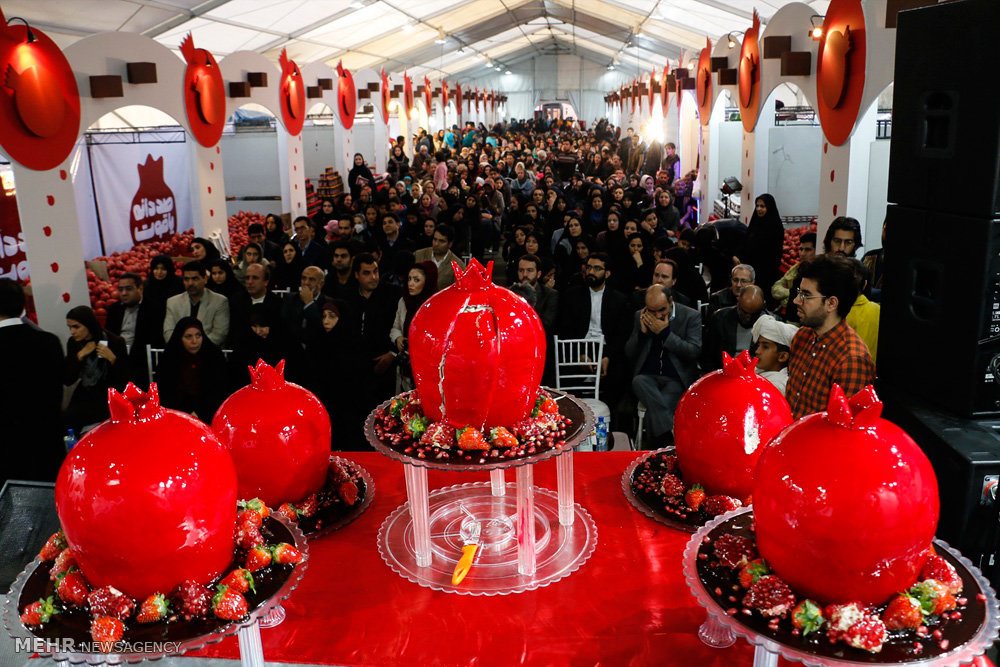 Seventh Pomegranate Festival, entitled '100 Ruby Seeds' is underway in Eshragh Cultural Center since December 4 and will wrap up on December 23.