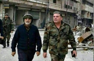 General Soleimani in Aleppo
